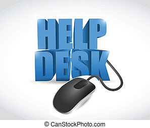online help desk sign illustration design