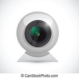 computer camera illustration design