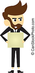 manager vector cartoon for dialogs with other characters
