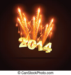 happy new year - creative 2014 new year greeting