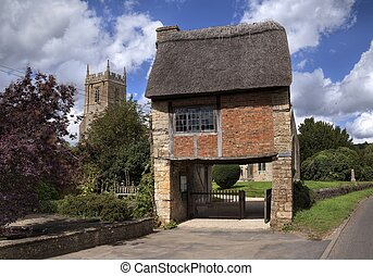 Warwickshire church - The Lych Gate at the Church of St...