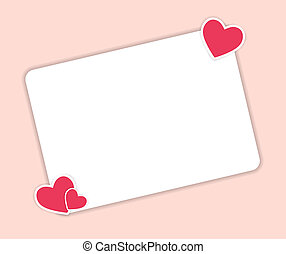 Valentines day heart backgroung, vector illustration