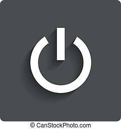 Abstract power button icon Switch off symbol Vector...