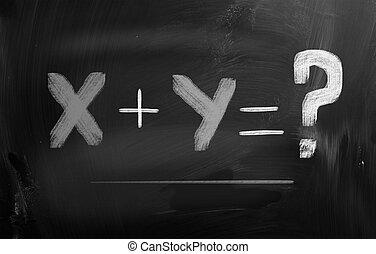 concepto, matemáticas