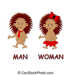 Man and woman toilet sign. Vector-art illustration on a...