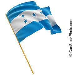 3D, bandera, honduras