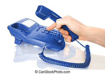 dialing on telephone