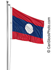 3D flag of Laos