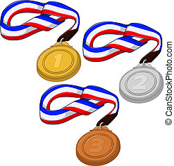 First Second and Third Place Medals Pack