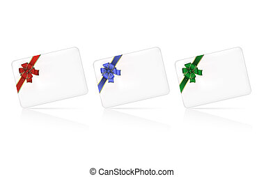 Set of cards with bows