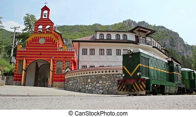 Monastery Dobrun, Bosnia, Old green train