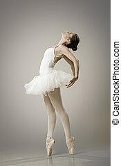 Retrato, bailarina, balé, pose