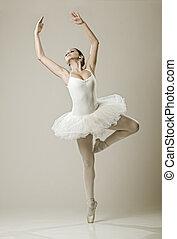 Portrait of the ballerina in ballet