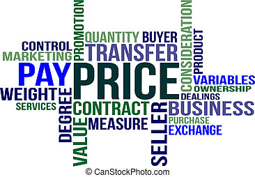 PRICE - word cloud - A word cloud - Price - related items