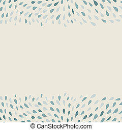 doodle hand-drawn background with borders of drops