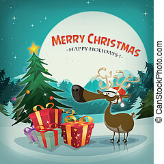 Merry Christmas Holidays Background - Illustration of a...