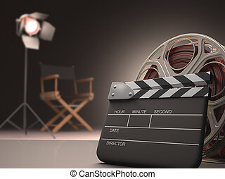 Clapboard concept of cinema