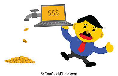 businessman in activity - illustration vector graphic...