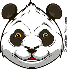 Cartoon panda bear head for mascot  design