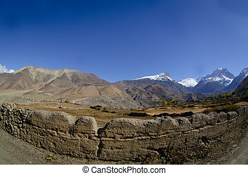 valley from the Annapurna Circuit trail in Nepal