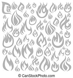 Fire a background - Background made of fire. A vector...