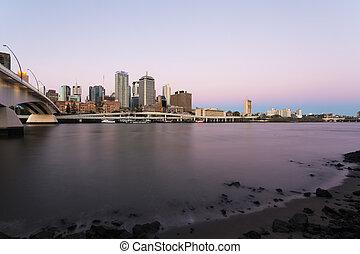 Australia Brisbane city at night
