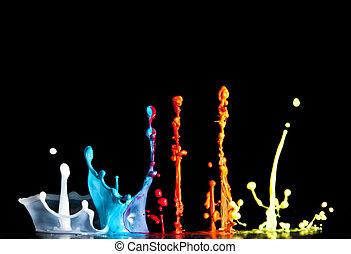 paint explosion - macro image of paint sculpture