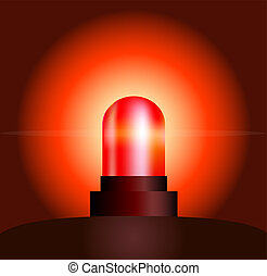 Red Light - Garishly shining red light, that warns of...