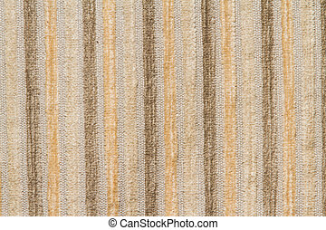 cloes up brown fabric stripe texture for background