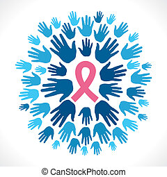 AIDS awareness concept background vector