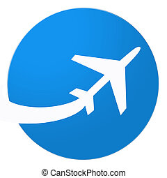 Airplane - Illustration of airplane on white background