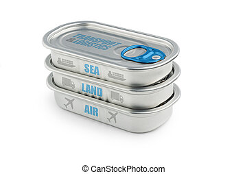 transport cargo - cans with the keywords of transport cargo
