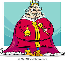 fat king cartoon fantasy character - Cartoon Illustration of...