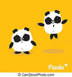 Vector cartoon Panda bear character