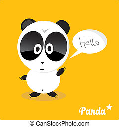 Vector cartoon Panda bear character