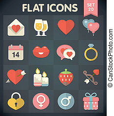 Valentine's Day: Flat Icons