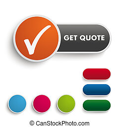 Get Quote Button Black Orange - Infographic design on the...