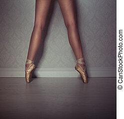 Legs of a ballet dancer