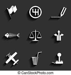 Universal Vector Flat Icons for Web and Mobile Applications