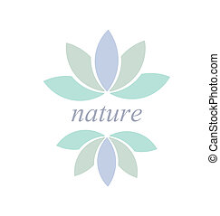 Flower symbol - Leaf or flower symbol or icon, Nature...