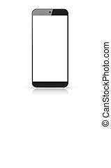 Modern responsive smartphone vector - isolated on white