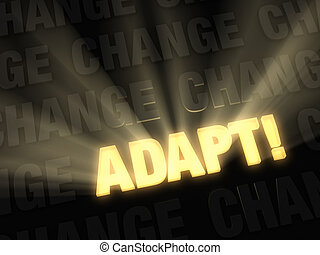 Adapt When Surrounded By Change - Brilliant light rays burst...