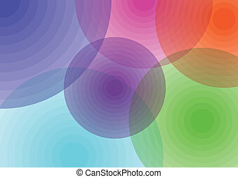 Colour circles - Interesting and creative colorful circles...