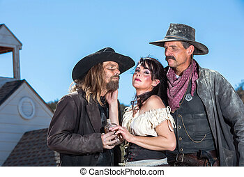 Western Character Trio - Three Western Characters