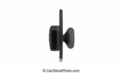 Handsfree - Bluetooth headset on white background