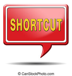 shortcut short route cut distance fast way bypass
