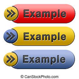 exemplo, botão