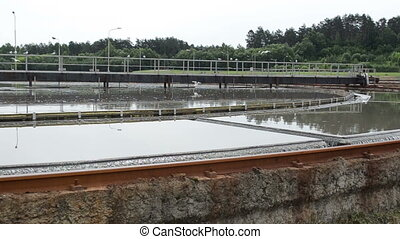 sludge settling tank - sludge settling reservoir first stage...
