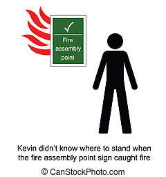 Fire Assembly Point - Kevin got confused during a fire at...