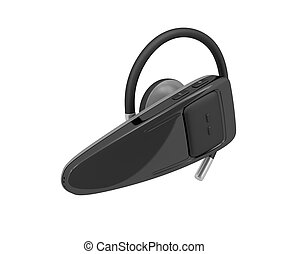 Handsfree - Bluetooth headset isolated on a white background